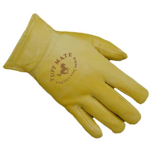 Cutting Horse Gold Premium Grain Lined Goatskin Gloves Farm & Ranch - Barn Supplies - Accessories Tuff Mate Teskeys