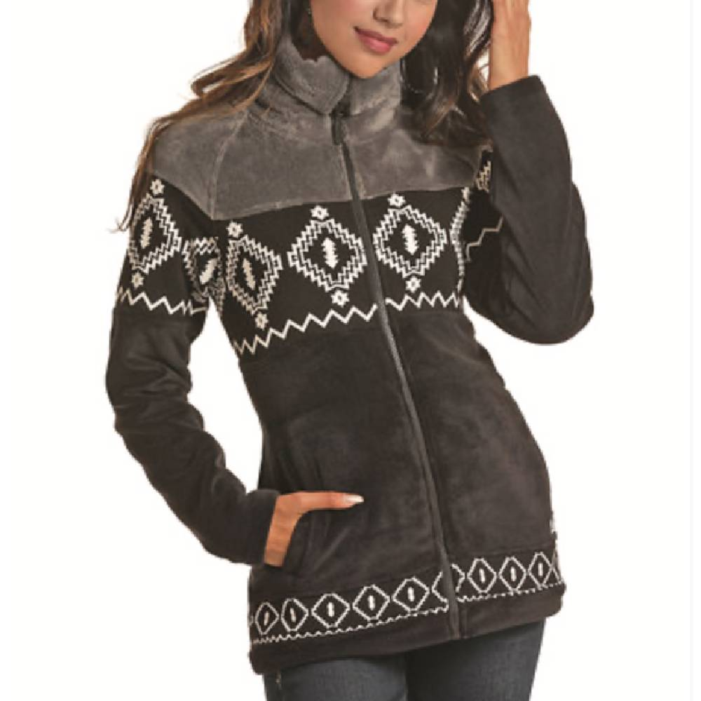 Powder River Women's Black Aztec Jacket WOMEN - Clothing - Outerwear - Jackets Panhandle Teskeys