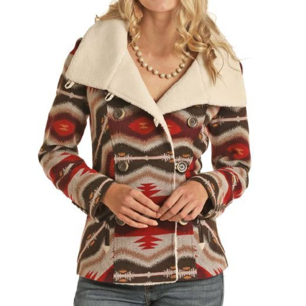 Powder River Women's Wool Aztec Coat WOMEN - Clothing - Outerwear - Jackets Panhandle Teskeys