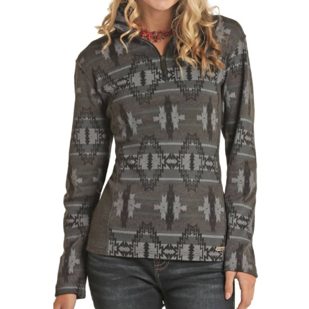 Powder River Women's 1/4 Zip Pullover WOMEN - Clothing - Sweatshirts & Hoodies Panhandle Teskeys
