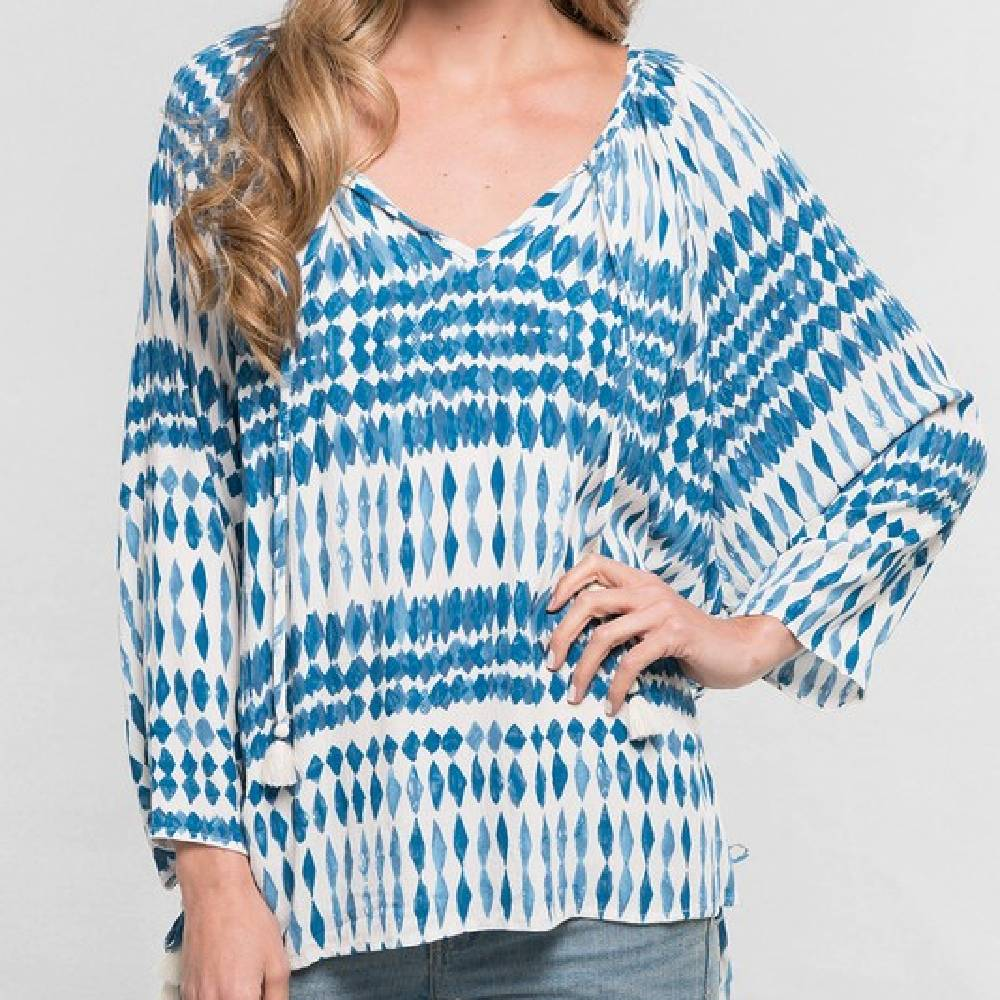 Printed Boho Blouse WOMEN - Clothing - Tops - Long Sleeved Clothing Illustrated, Inc. Teskeys