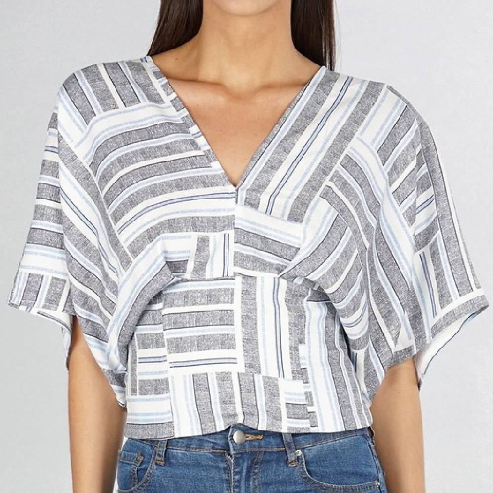 Printed Kimono Sleeve Top WOMEN - Clothing - Tops - Short Sleeved Clothing Illustrated, Inc. Teskeys