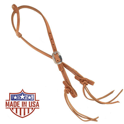 Patrick Smith One Ear Headstall With Pineapple Knot Tie Ends Tack - Headstalls - One Ear Patrick Smith Teskeys