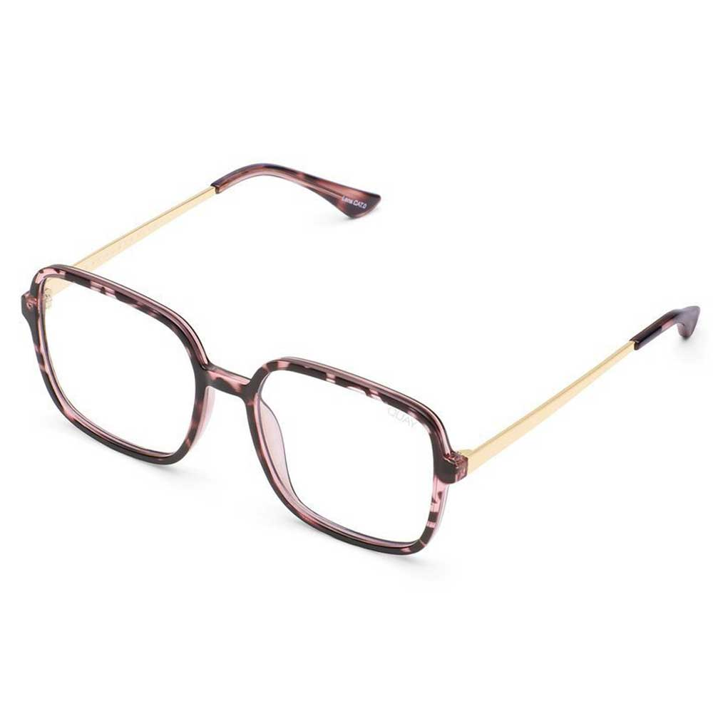 Quay 9 to 5 Bluelight Glasses - Pink Tortoise