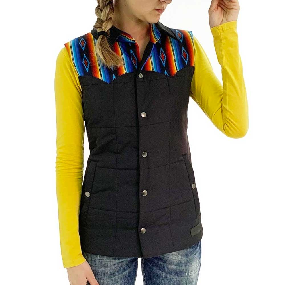 Rock & Roll Quilted Two-Tone Vest