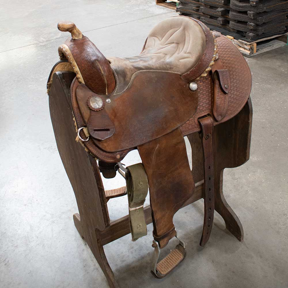 "13.5"" USED SHILOH BARREL SADDLE Saddles - Used Saddles - BARREL Shiloh Teskeys"