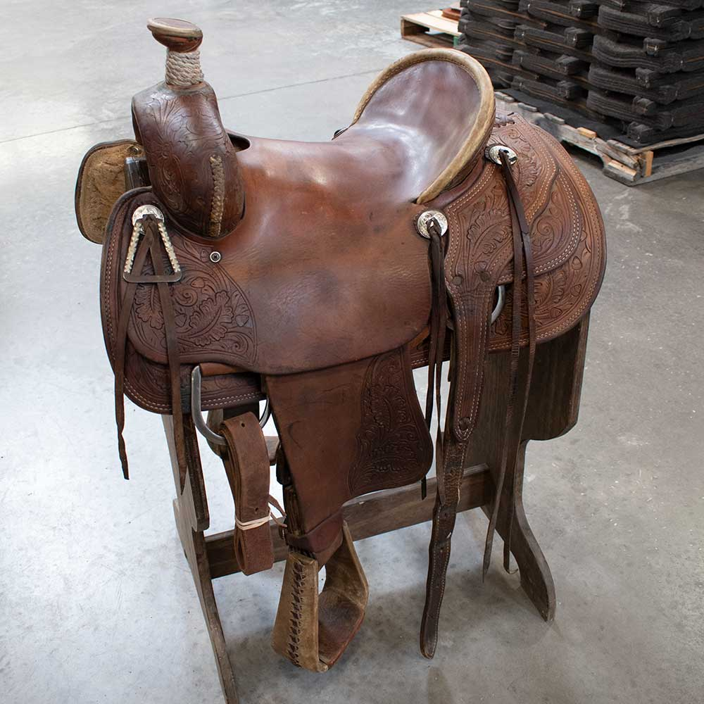 "14"" USED TESKEYS RANCH SADDLE"
