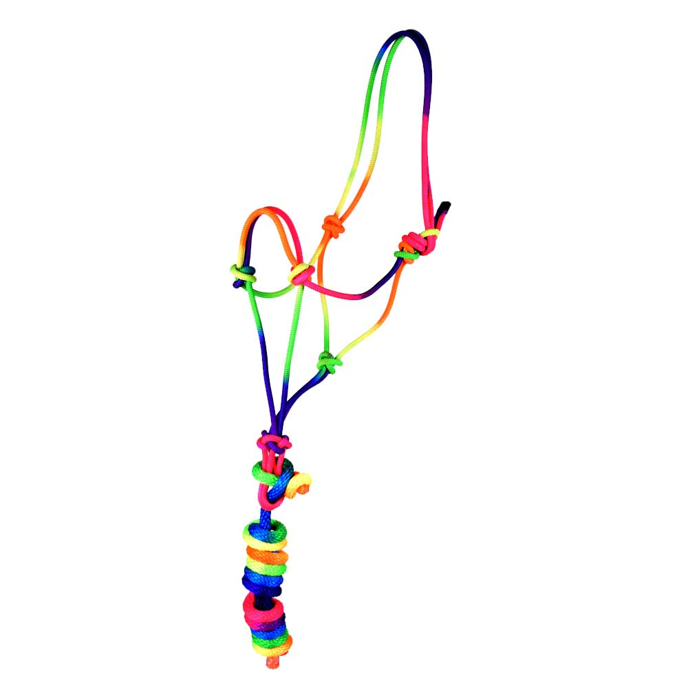 Rainbow Rope Halter and Lead Tack - Halters & Leads Teskeys Teskeys