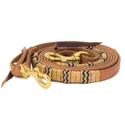 "Teskey's 5/8"" Harness Leather Rope Rein Tack - Reins Teskeys Teskeys"