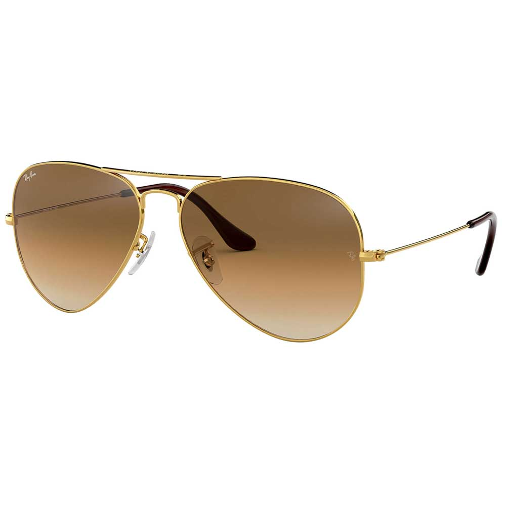 RayBan Aviator Gradient Light Brown Lens Sunglasses ACCESSORIES - Additional Accessories - Sunglasses RAYBAN Teskeys