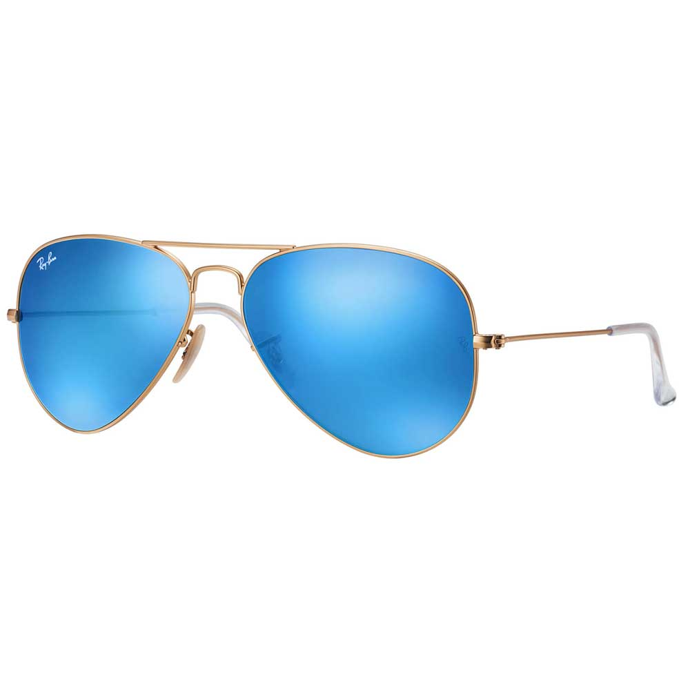 RayBan Aviator Blue Flash Lens Polarized Sunglasses ACCESSORIES - Additional Accessories - Sunglasses RAYBAN Teskeys
