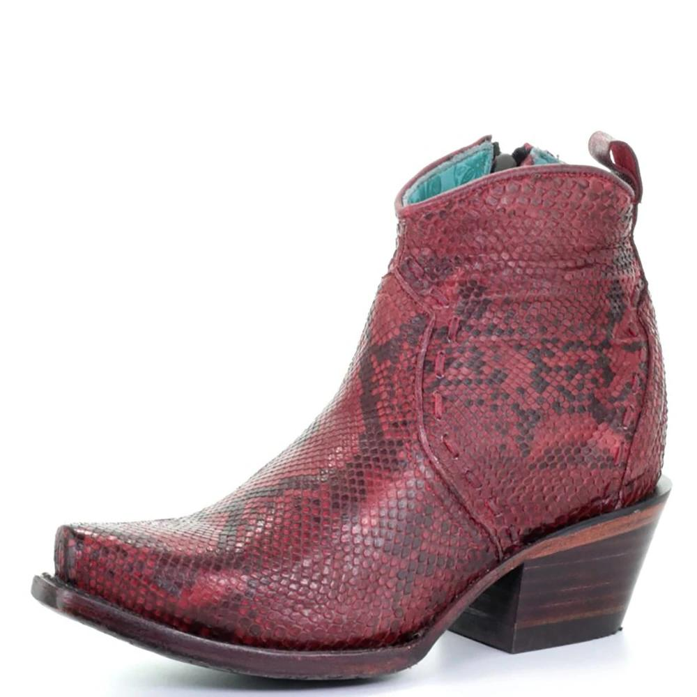 Corral Red Python Bootie WOMEN - Footwear - Boots - Booties CORRAL BOOTS Teskeys