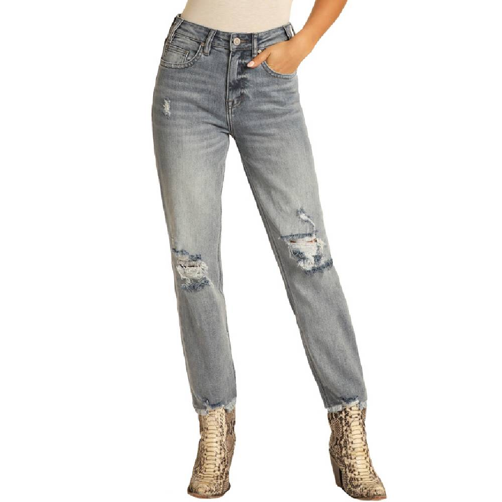 Rock & Roll Cowgirl Cropped Jeans WOMEN - Clothing - Jeans Panhandle Teskeys