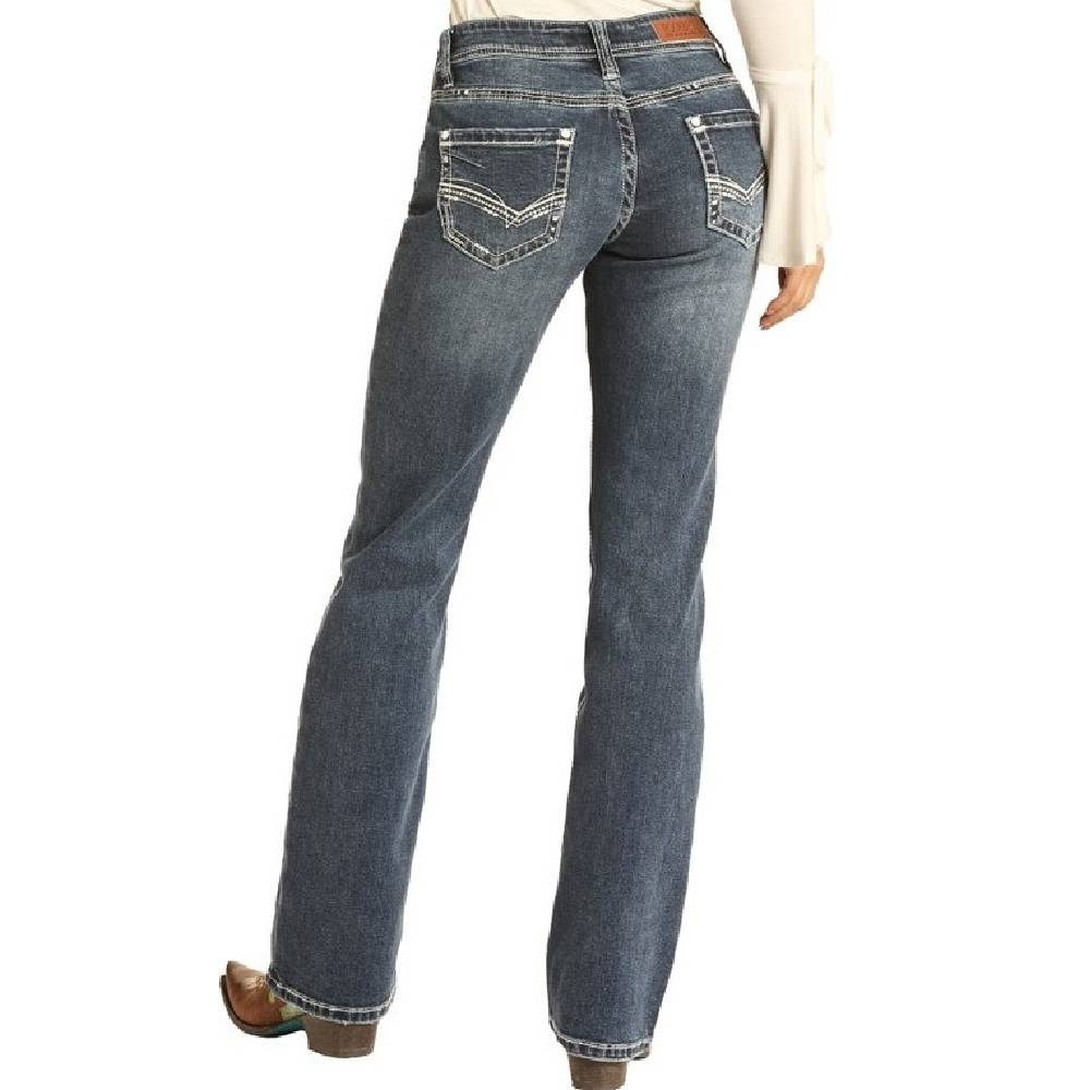Rock & Roll Cowgirl Riding Boot Cut Jean