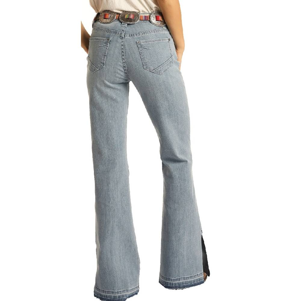 Rock & Roll Cowgirl High Rise Trouser Jean WOMEN - Clothing - Jeans Panhandle Teskeys