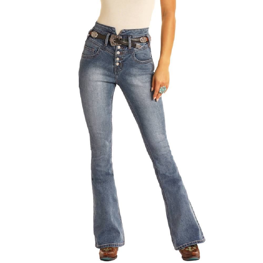 Rock & Roll Denim High Rise Flare Jean