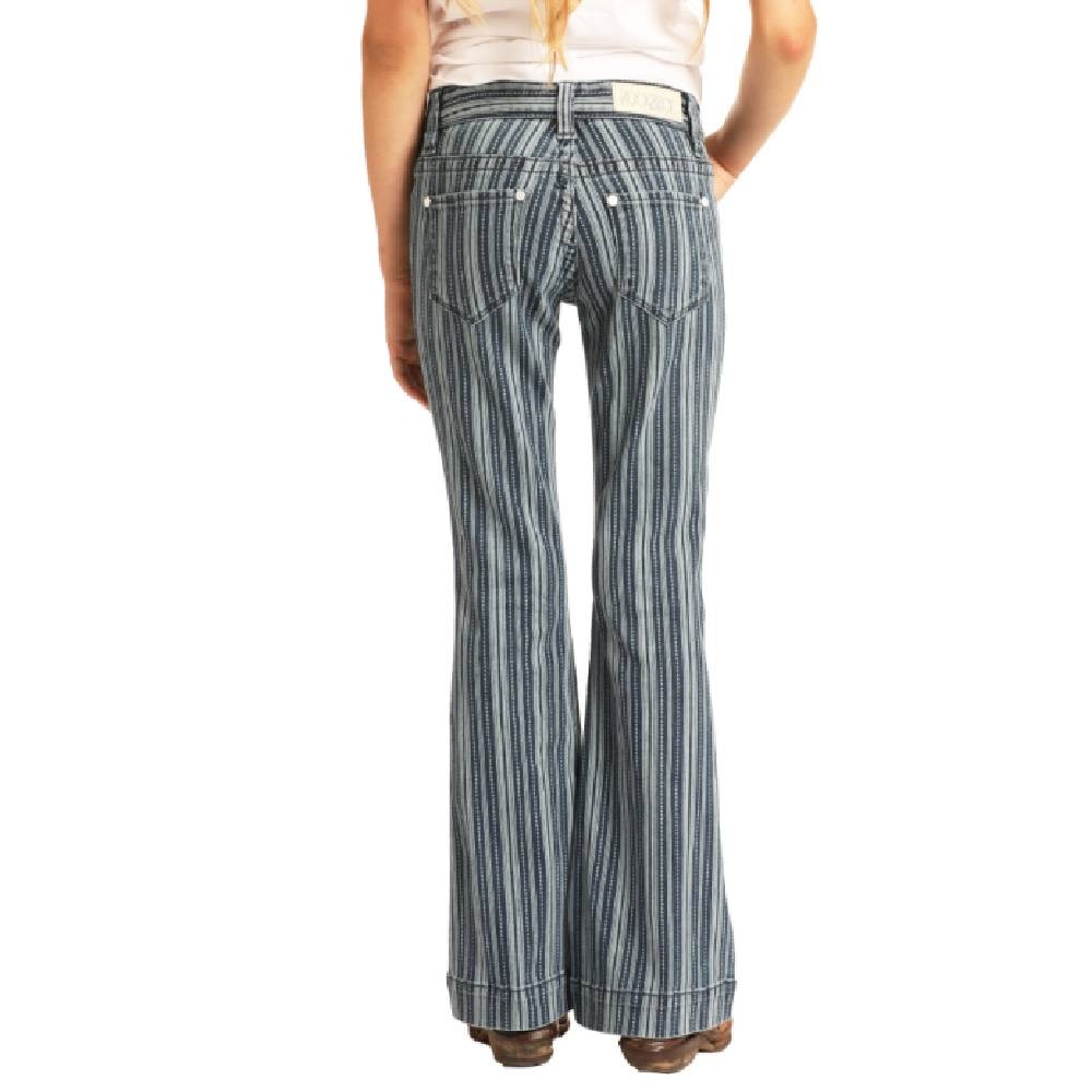 Rock & Roll Girls Stripe Trouser Jean KIDS - Girls - Clothing - Jeans Panhandle Teskeys