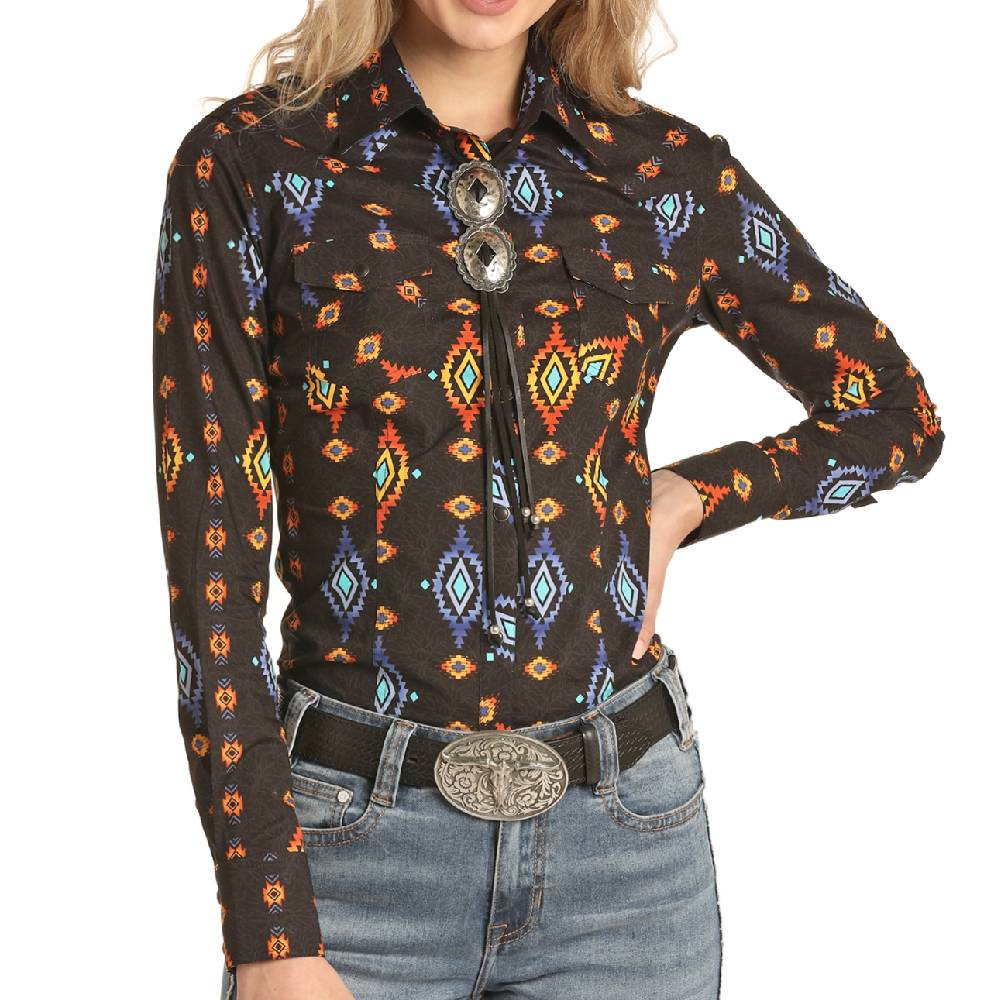 Rock & Roll Cowgirl Snap Shirt WOMEN - Clothing - Tops - Long Sleeved Panhandle Teskeys