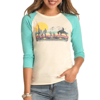 Rock & Roll Cowgirl Scenic Wonders Tee WOMEN - Clothing - Tops - Long Sleeved Panhandle Teskeys