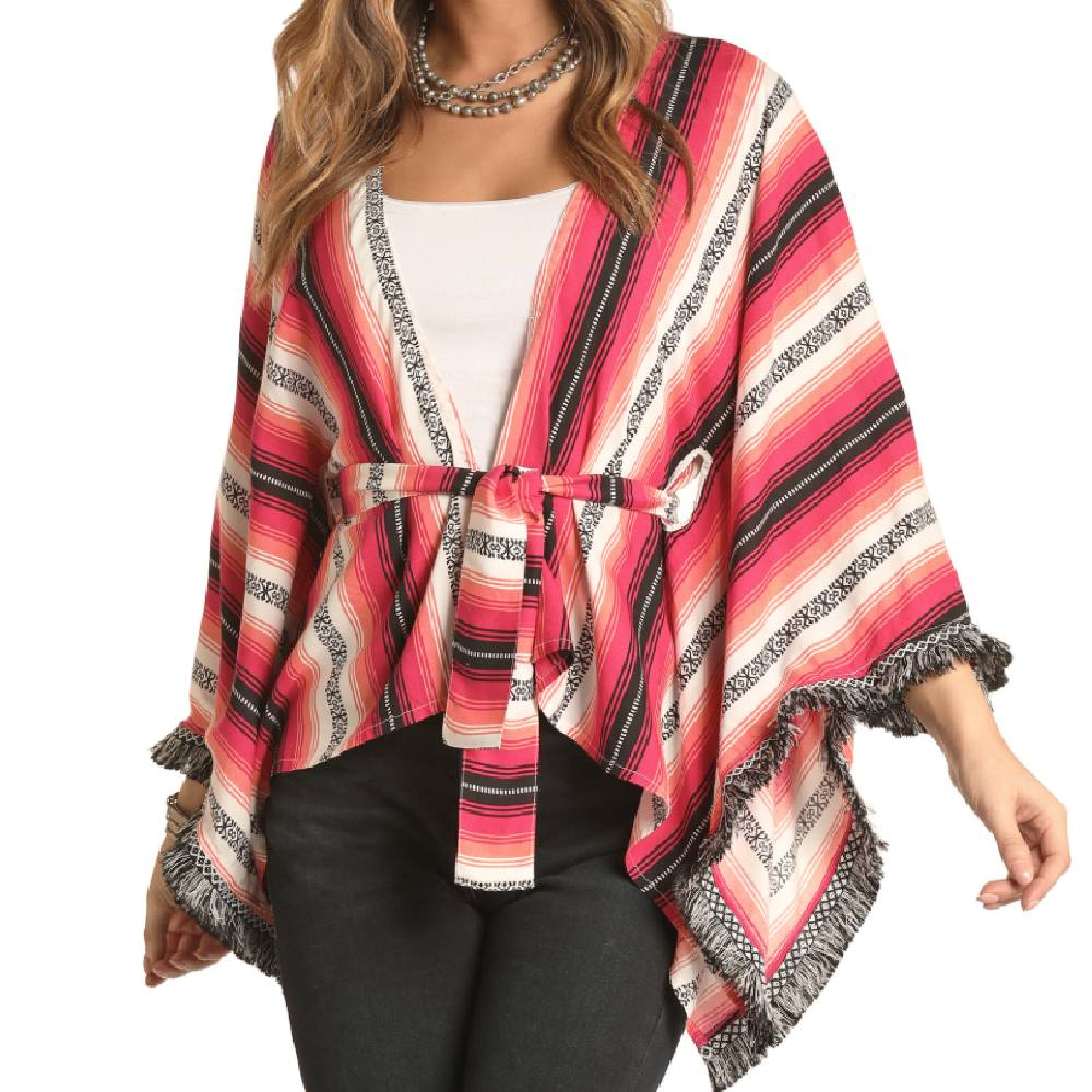 Rock & Roll Cowgirl Poncho WOMEN - Clothing - Sweaters & Cardigans Panhandle Teskeys