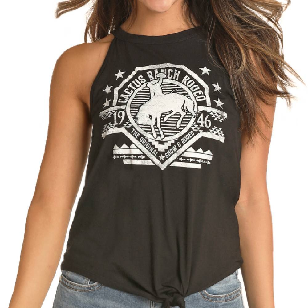Rock & Roll Cowgirl High Neck Tank WOMEN - Clothing - Tops - Sleeveless Panhandle Teskeys