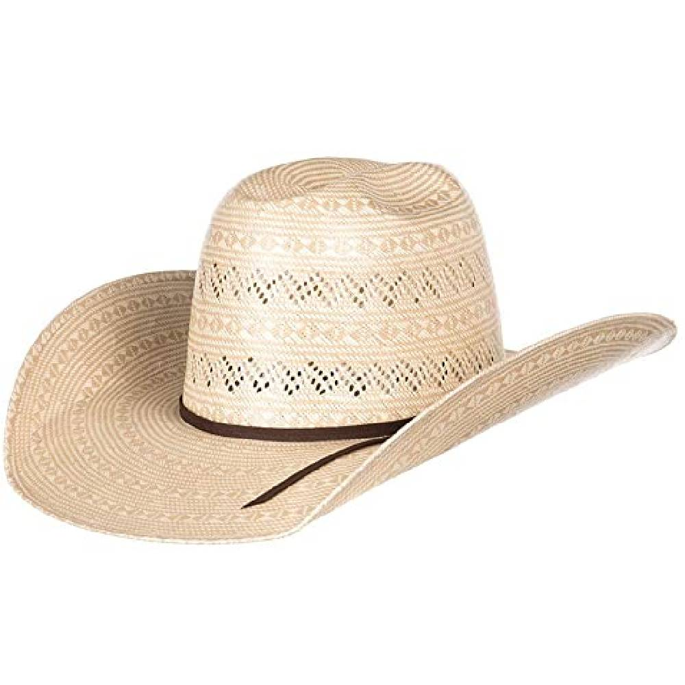 Rodeo King Prime Time Open Crown Straw Hat HATS - STRAW HATS W. ALBOUM HAT CO, INC. Teskeys