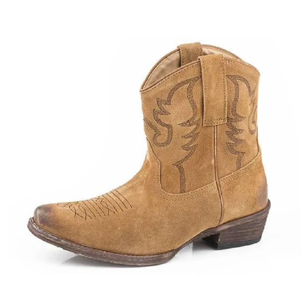 Roper Dusty II Suede Bootie WOMEN - Footwear - Boots - Booties ROPER APPAREL & FOOTWEAR Teskeys