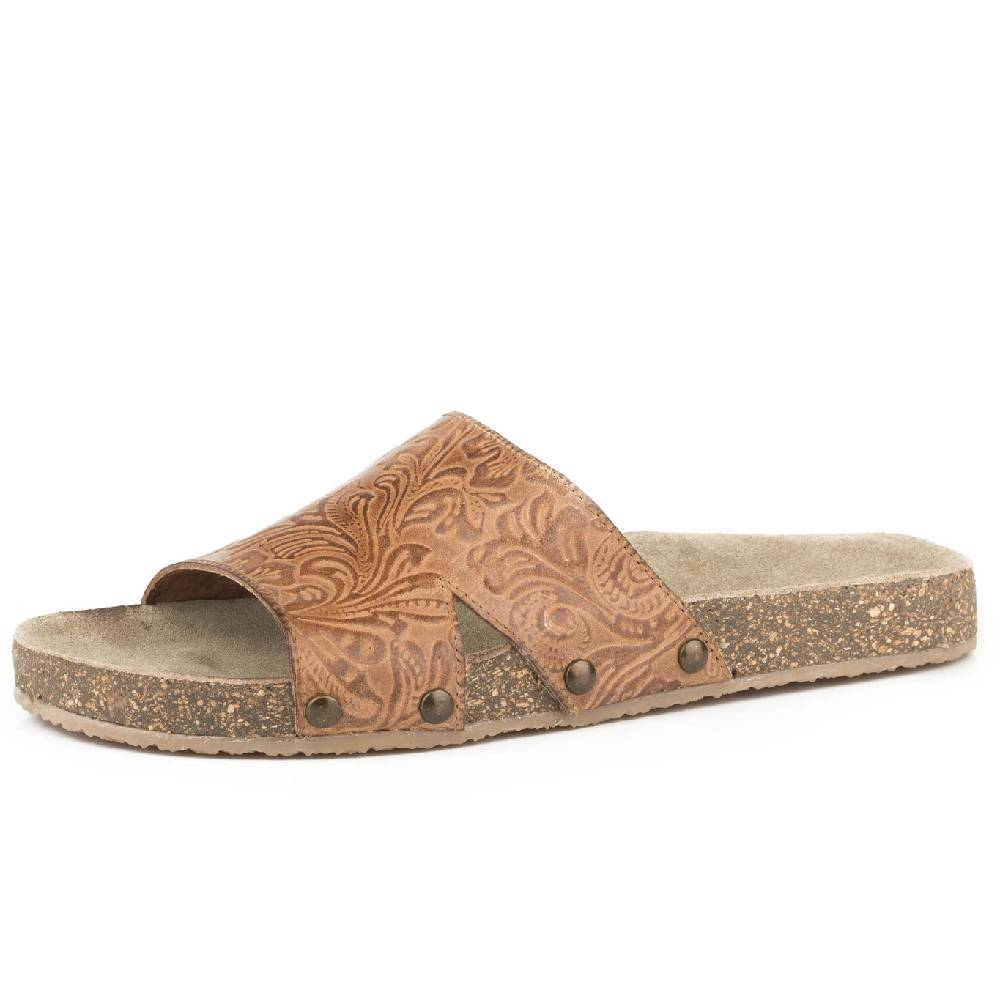 Roper Floral Embossed Leather Sandal WOMEN - Footwear - Sandals ROPER APPAREL & FOOTWEAR Teskeys