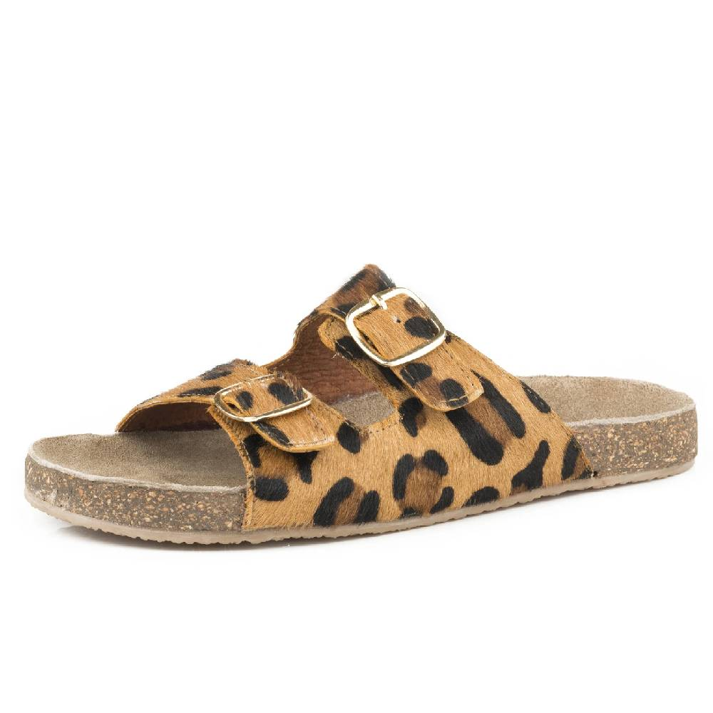 Roper Leopard Hair On Sandal WOMEN - Footwear - Sandals ROPER APPAREL & FOOTWEAR Teskeys