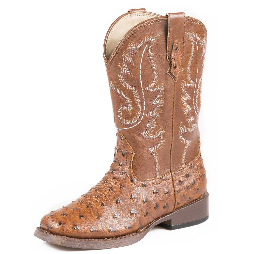 Roper Kid's Faux Ostrich Boots KIDS - Girls - Footwear - Boots ROPER APPAREL & FOOTWEAR Teskeys