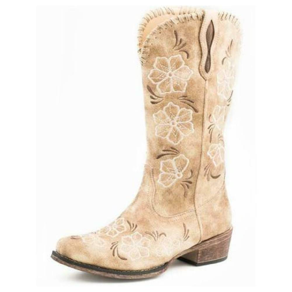 Roper Riley Vintage Beige Boot WOMEN - Footwear - Boots - Fashion Boots ROPER APPAREL & FOOTWEAR Teskeys
