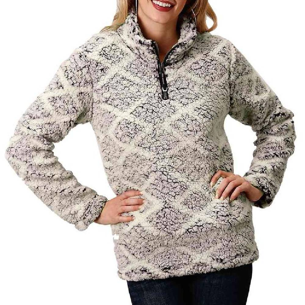 Roper Women's 1/4 Zip Fleece Pullover WOMEN - Clothing - Sweatshirts & Hoodies ROPER APPAREL & FOOTWEAR Teskeys