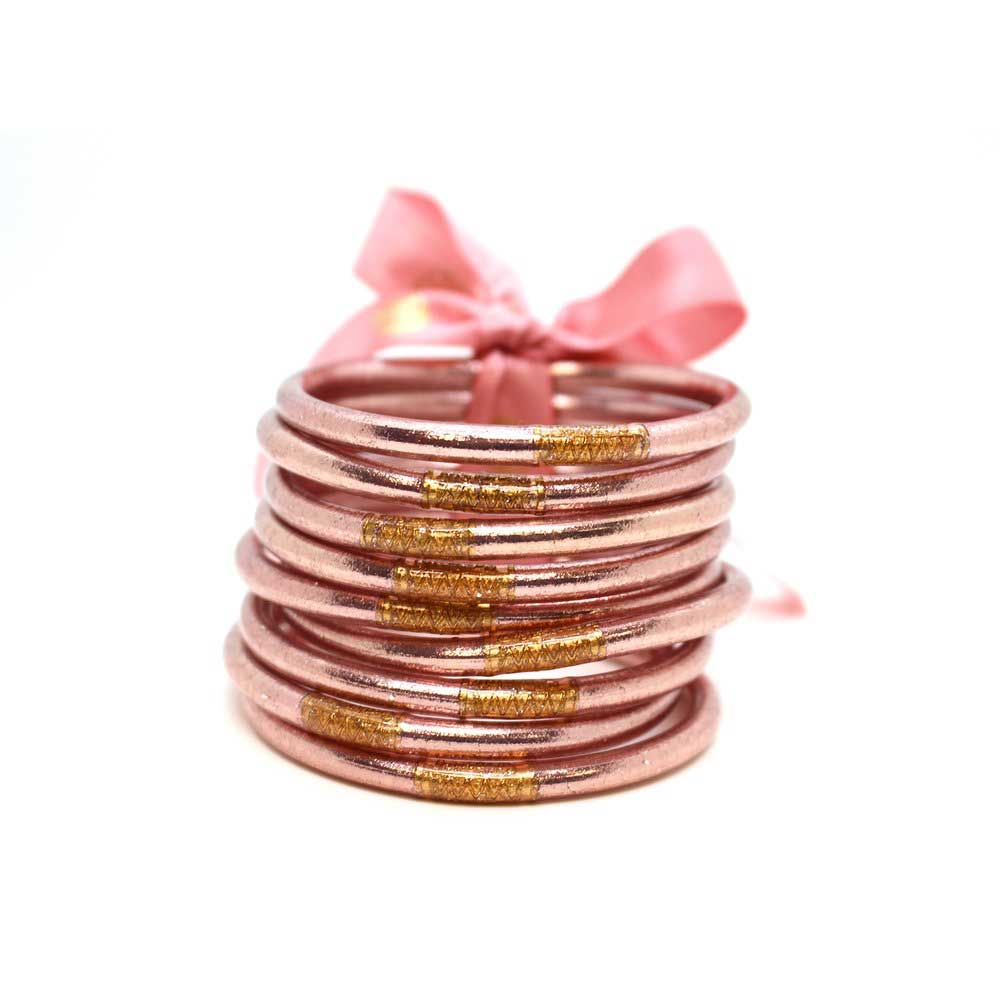 BuDhaGirl Rose Gold All Weather Bangles WOMEN - Accessories - Jewelry - Bracelets BuDhaGirl LLC Teskeys