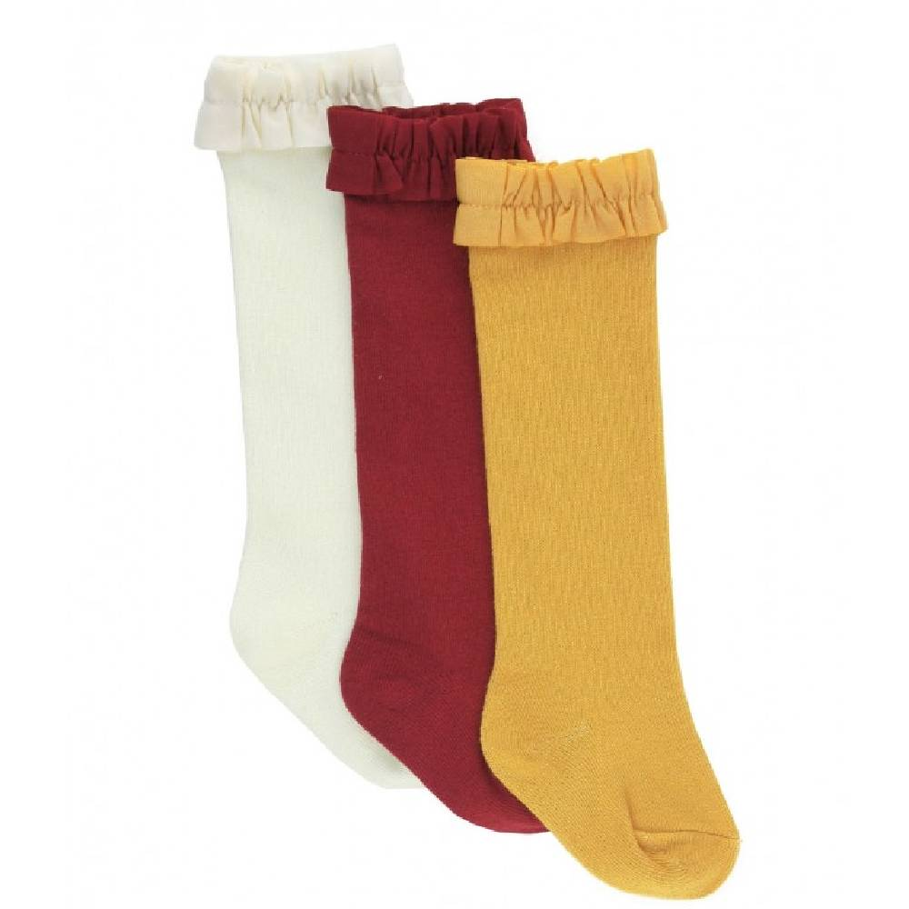 Ruffle Butts 3-Pk Knee Hi Socks KIDS - Baby - Baby Accessories RUFFLE BUTTS/RUGGED BUTTS Teskeys