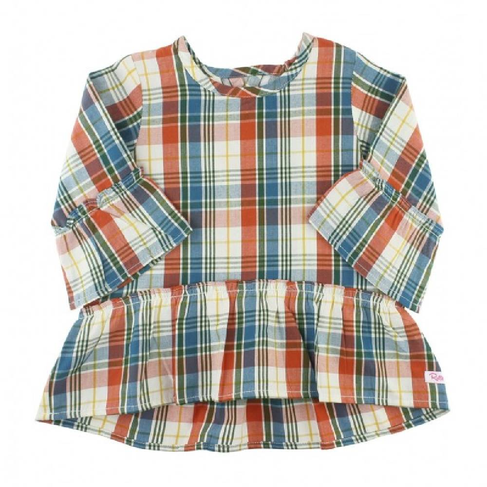 Ruffle Butts Miller Plaid Top KIDS - Baby - Baby Girl Clothing RUFFLE BUTTS/RUGGED BUTTS Teskeys
