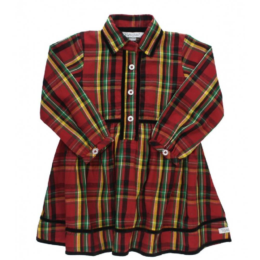 Ruffle Butss Remington Plaid Babydoll Dress KIDS - Baby - Baby Girl Clothing RUFFLE BUTTS/RUGGED BUTTS Teskeys