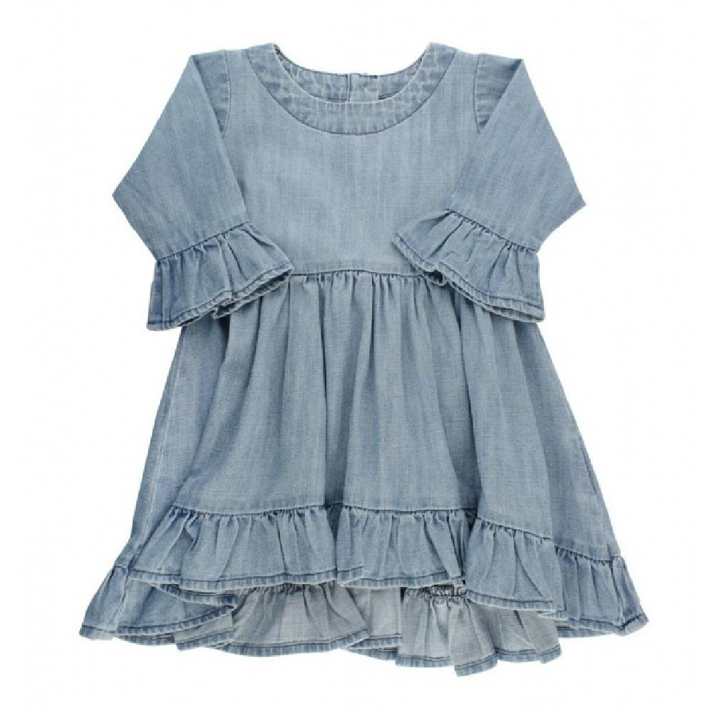 Ruffle Butts Denim High Low Tunic KIDS - Baby - Baby Girl Clothing RUFFLE BUTTS/RUGGED BUTTS Teskeys
