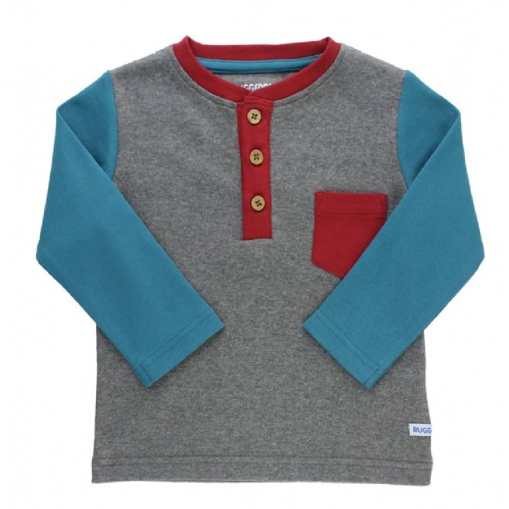 Rugged Butts Ethereal Henley Tee KIDS - Baby - Baby Boy Clothing RUFFLE BUTTS/RUGGED BUTTS Teskeys