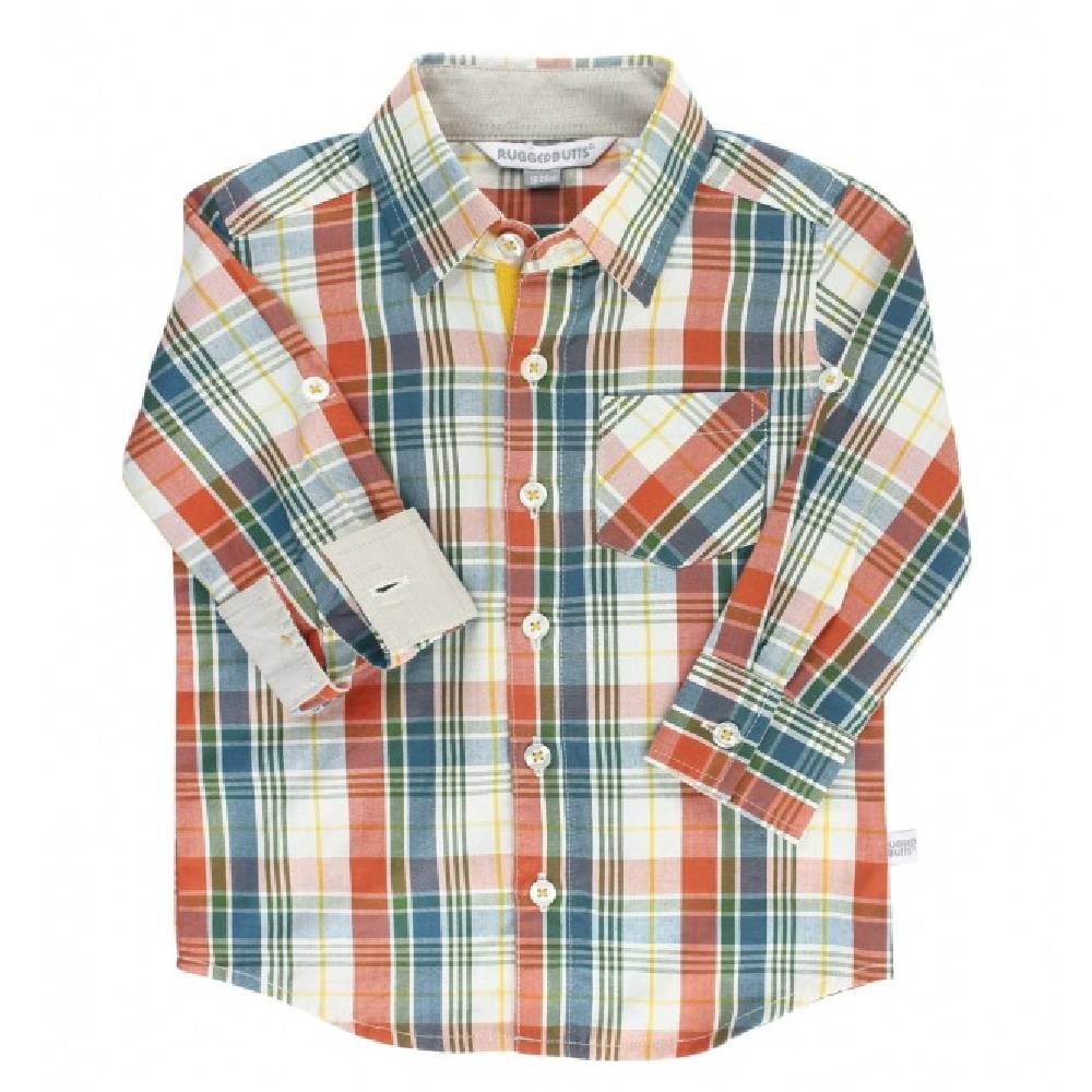 Rugged Butts Miller Plaid Shirt KIDS - Baby - Baby Boy Clothing RUFFLE BUTTS/RUGGED BUTTS Teskeys