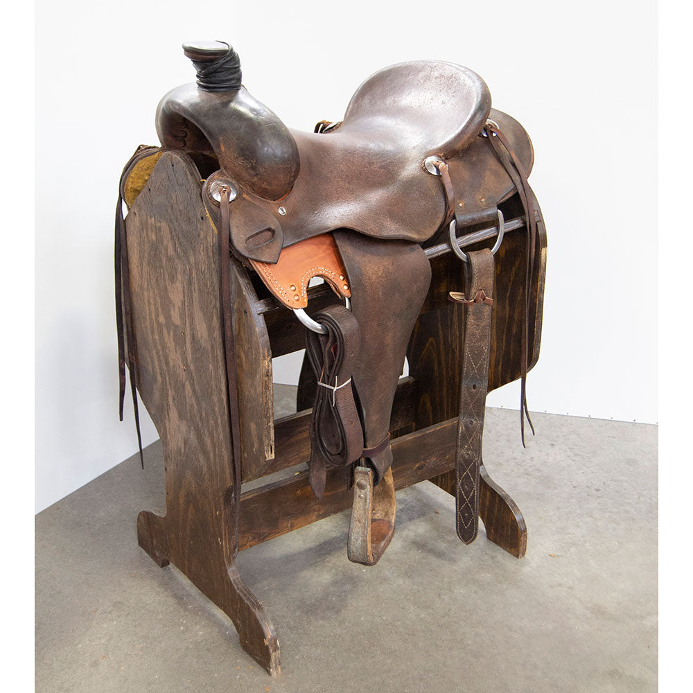 "16"" USED COWPUNCHER RANCH SADDLE Saddles - Used Saddles - RANCH Cowpuncher Teskeys"
