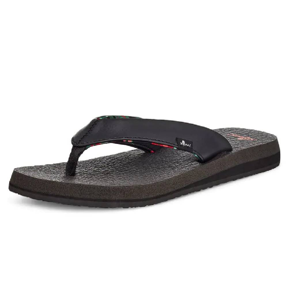 Sanuk Women's Yoga Mat Floral Sandal - Black WOMEN - Footwear - Sandals SANUK Teskeys