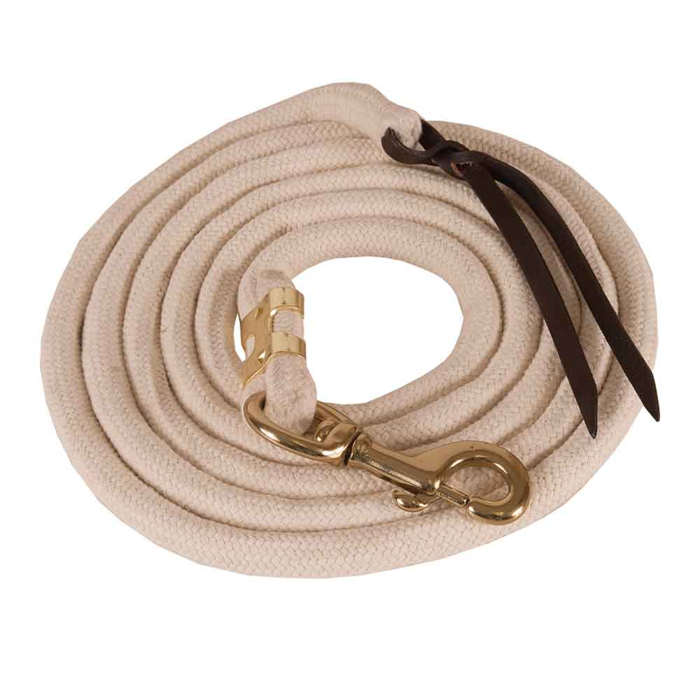 Teskey's Pima Cotton Lead With Bolt Snap Tack - Halters & Leads - Leads Teskey's Teskeys