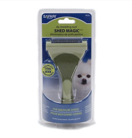 Safari Shed Magic De-Shedding Tool for Dogs FARM & RANCH - Animal Care - Pets - Accessories - Grooming Safari Teskeys