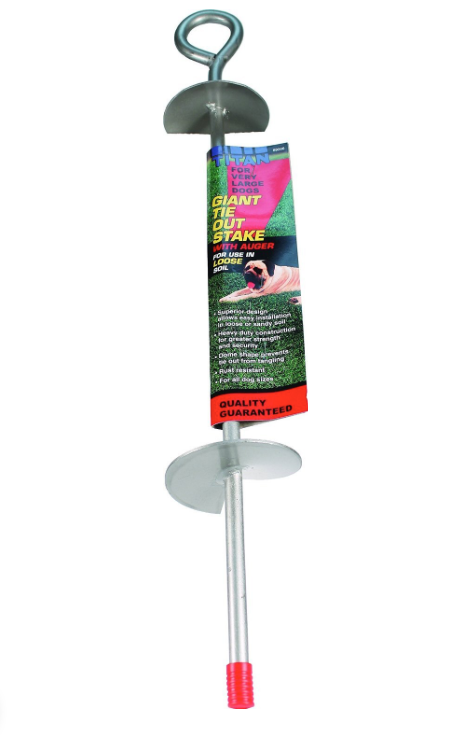 "Coastal Pet Giant Auger Dog Tie Out Stake 24"" FARM & RANCH - Animal Care - Pets - Accessories - Collars & Leashes Teskeys Teskeys"