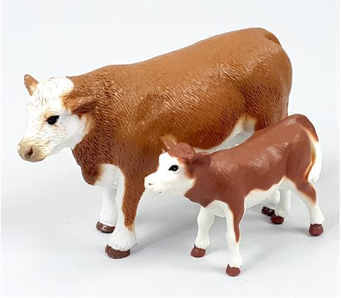 Big Country Hereford Cow & Calf Farm & Ranch - Toys and DVDs Big Country Toys Teskeys