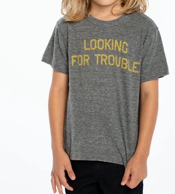 Looking For Trouble Crew Tee KIDS - Boys - Clothing - Shirts - Short Sleeve Shirts CHASER Teskeys