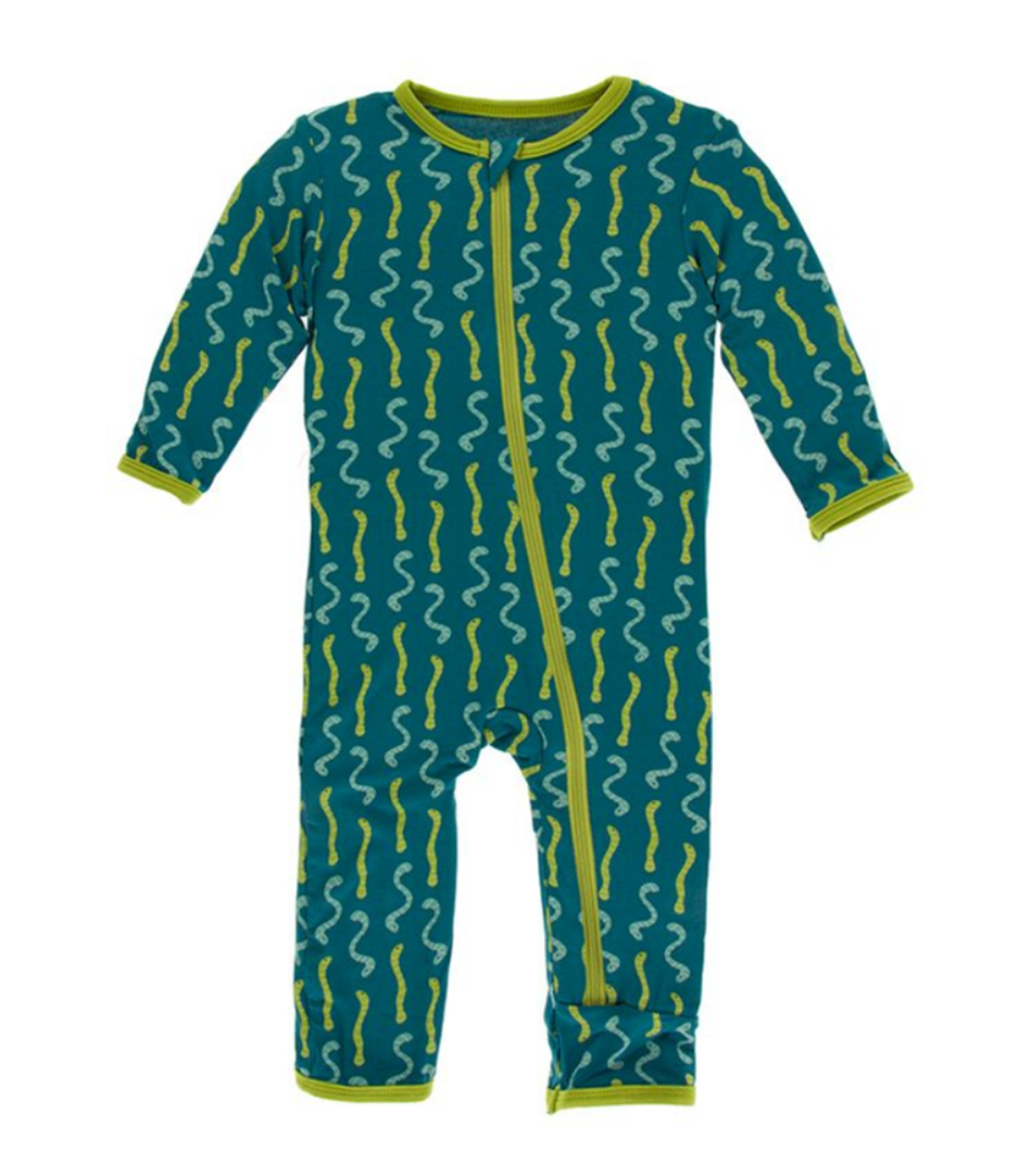 Kickee Pants Print Zipper Coverall - Multiple Prints KIDS - Baby - Baby Girl Clothing Teskeys Teskeys