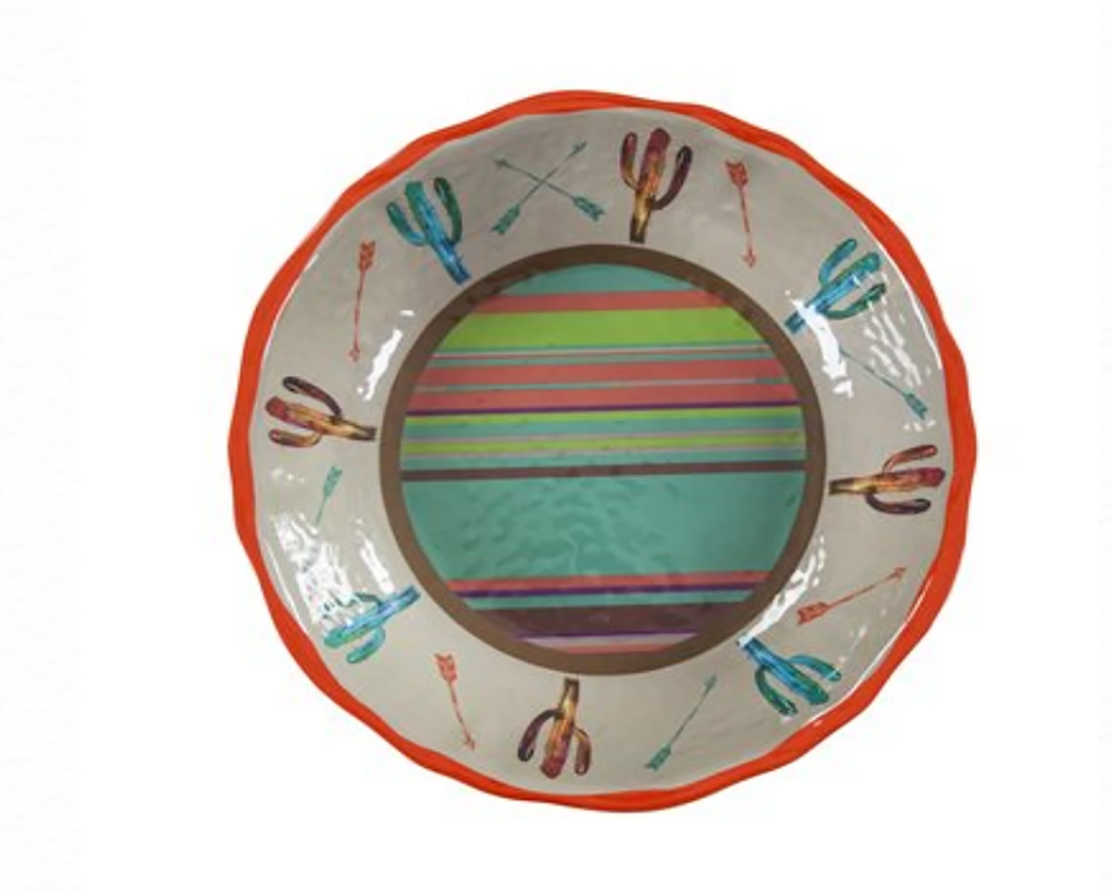 CACTUS MELAMINE SERVING BOWL HOME & GIFTS - Tabletop + Kitchen - Serveware & Utensils Teskeys Teskeys