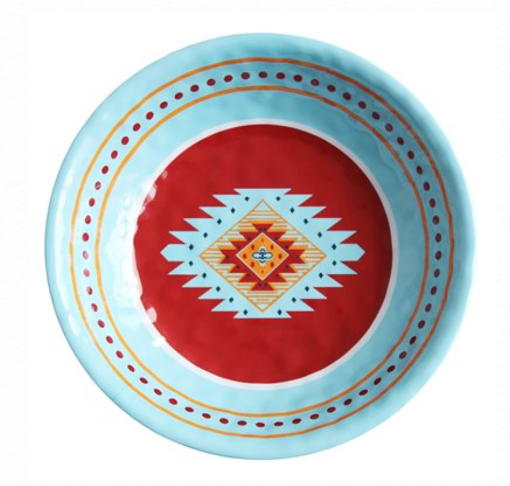 SOUTHWEST MELAMINE SERVING BOWL HOME & GIFTS - Tabletop + Kitchen - Serveware & Utensils Teskeys Teskeys