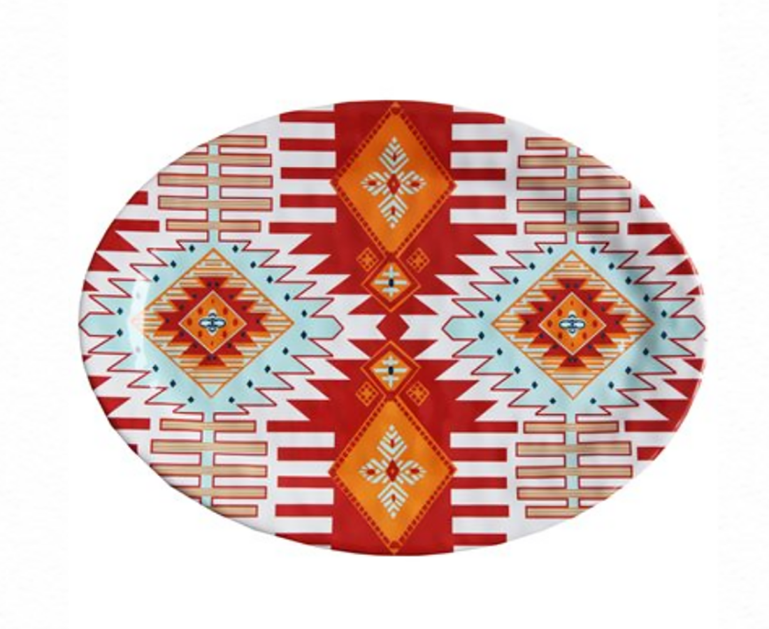 SOUTHWEST MELAMINE SERVING PLATTER HOME & GIFTS - Tabletop + Kitchen - Serveware & Utensils Teskeys Teskeys